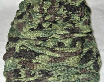 Crocheted Granny Square Kitchen Set, Camo