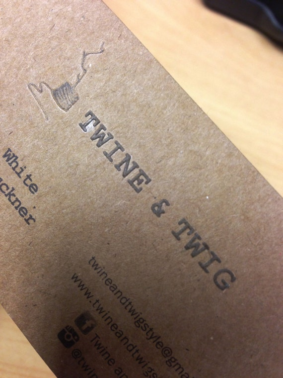 200 business cards or tags 13 pt brown kraft paper with for 200 business cards