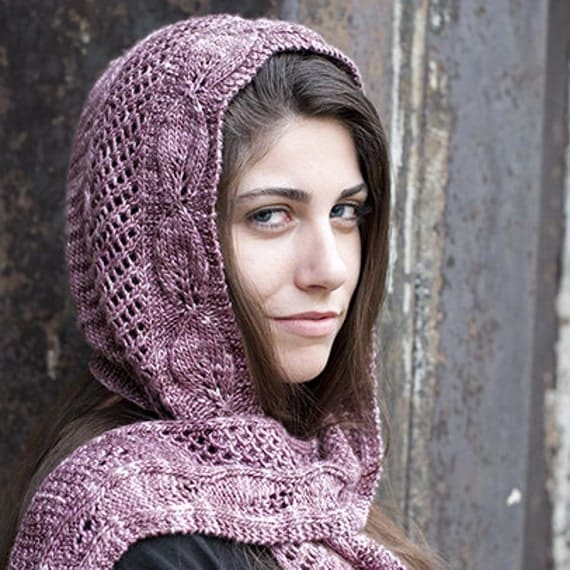 Lady Ediths Hooded Scarf Knit Pattern PDF by daydreamerknits
