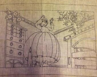 """Rug Hooking Pattern """"Storytime"""" by Priscilla DeBloom"""
