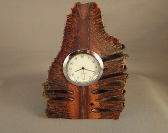 Desk Clock - Mini Quartz Movement - Banksia Wood