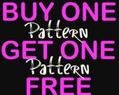 Buy One Crochet Pattern Get One Pattern FREE  - Crochet Pattern Sale - Crochet Pattern Deal - Plus Size Crochet - BOGO Patterns