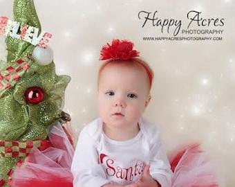 Candy Cane tutu with headband, red tutu, photography prop, baby tutu, newborn tutu