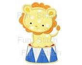 circus lion applique machine embroidery design