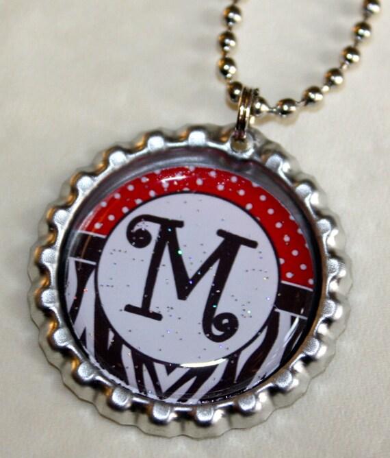 Personalized Bottle Cap Necklace