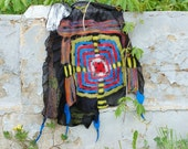 Elegant Present Scarf nuno felted Shawl Hundertwasserhaus inspired,One of kind,OOAK Ready to Ship