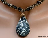 LP 969  ON HOLD   Gorgeous, Pyrite, Black Spinel And 14K Gold Filled Statement Necklace