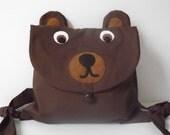Kids Brown Bear Backpack