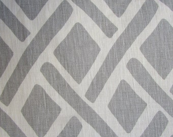 Treads Asphalt/Gray designer multipurpose linen fabric  by KRAVET
