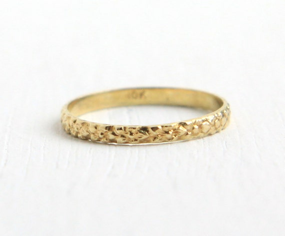 Sale Antique 10k Yellow Gold Baby Ring Vintage By