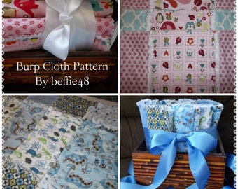 PATTERN, Burp Cloths, Easy To Make, Rag Style, Step by Step Photos, pdf