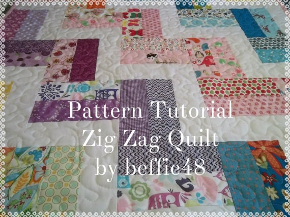 Hello Zig Zag Quilt Pattern : Zig Zag Quilt Pattern Tutorial Baby Quilt Pattern Easy pdf