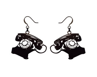 Dreyfus Phone Earrings Black