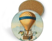 Hot Air Balloon Coaster Set - Drink Coasters