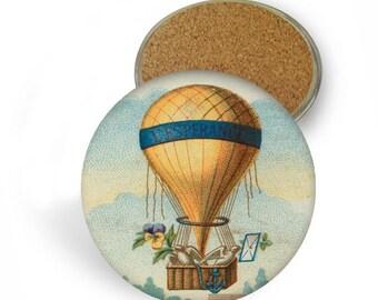 Hot Air Balloon Coaster Set - Drink Coasters