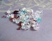 50 pcs Bag of Gemstone Beads Mix Apatite Garnet Ametrine Rose Quartz