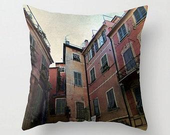 windows of Cinque Terre - pillow cover