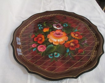 Toleware Metal Tray  by Gatormom13