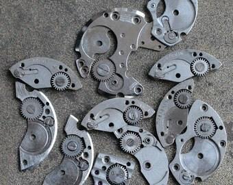 Vintage watch parts -- steam punk -- set of 11 -- D18