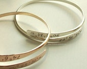 GPS Location Cuff Silver or Gold Crossover Expandable Wrap Personalized