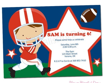 PRINTABLE Football Party Invitation (Character of your choice) #529