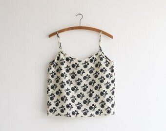 Clearance SALE ,Floral cami top,  Printed tank top ,Women tank top, Indie fashion, spaghetti straps