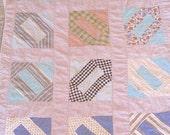 Vintage Cutter Lap Quilt or Baby Quilt