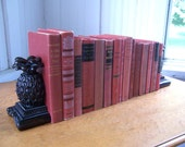 Vintage 15 Book Bundle Instant Collection Novels Shades Of RED Books 40s 60s Wedding Photography Prop