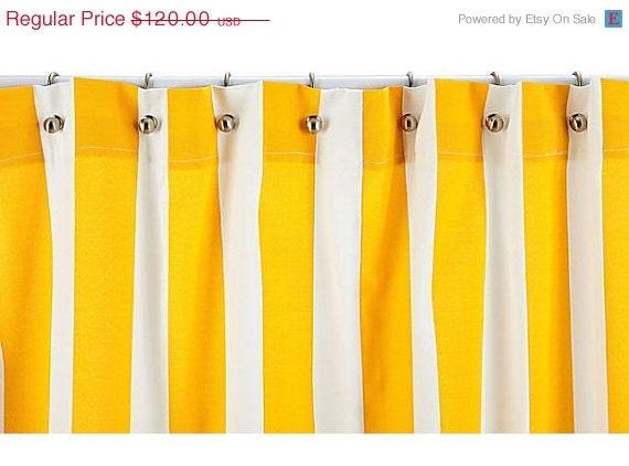 Shower Curtain - Yellow Striped Shower Curtain - Stripe Shower Curtain ...