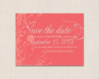 WILDFLOWER WEDDING Save the Date - DEPOSIT