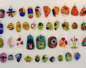 Fused Glass Pendants Lot of 40 Fused Glass Bargain! Special Price!