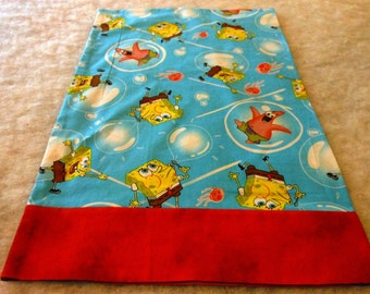 Pillowcase Travel Size Sponge Bob Square Pants