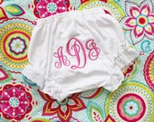 1 Pair of Personalized BLOOMERS - White 0-6 months