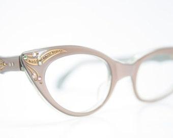 vintage cat eye glasses rhinestone cateye frames