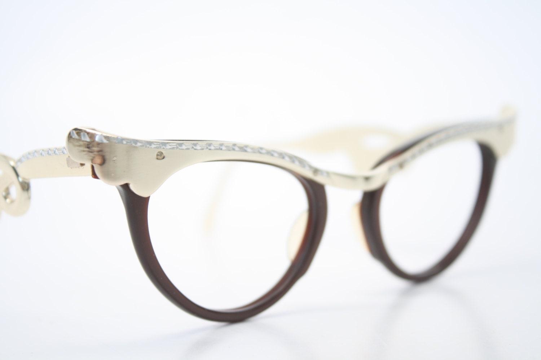Unusual Designer Eyeglass Frames : Vintage Eyeglasses Unique cat eye glasses retro glasses
