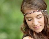 Bohemian Headband Braided Floral Head Band Women's Fashion Hair Accessories - Earthy
