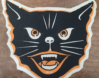 Halloween Cat Back Patch