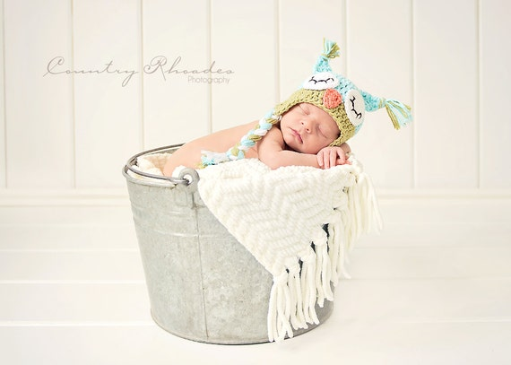 Owl hat, newborn owl hat, crochet sleepy owl hat, toddler owl hat, photography prop, crochet winter hat, newborn photo prop, baby owl hat