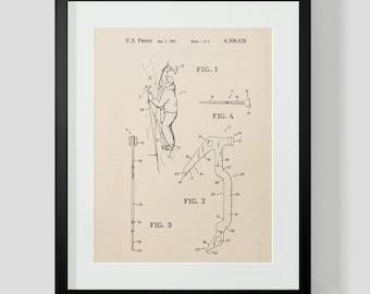 Ice Axe Ice Climbing Patent Print