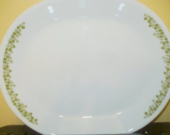 Crazy Daisy AKA Spring Blossom -  Meat Serving  Platters - Corelle ( Corning ) - EUC