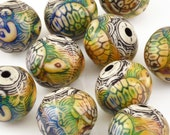 Mirage Beads-17.5x16mm Turtle Island-Color Changing-Quantity 1