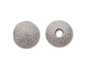 Stardust-6mm Round Beads-Silver-Quantity 12