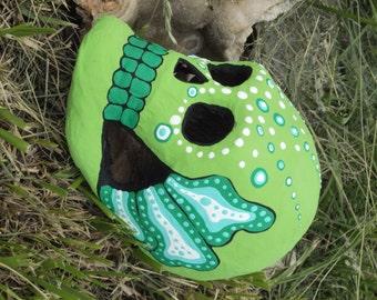 One of a Kind Dia de los Muertos (Day of the Dead) paper mache sugar skull