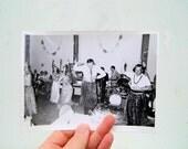Vintage 5x7 Black and White Photo, Hawaiian Theme Mid Century Photo, Humorous Black and White Photo