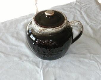 Vintage Brown Drip Cookie Jar