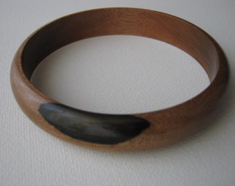 Macassar Ebony Bangle Bracelet
