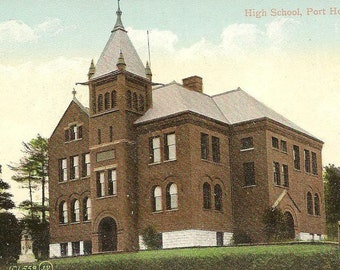 High School PORT HOPE Ontario Unused UDB G V Strong Publisher Vintage Postcard