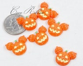 12/24/50 pcs 22mm Halloween Happy Pumpkin Jack o' Lantern Flatback Resin Cabochon