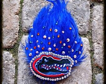 Sale Florida Gators Gator Swarovski Crystal Feather Hair Comb Hairpiece