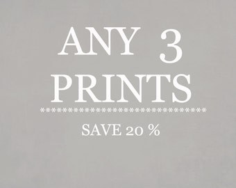Any Three Prints.  Set Of Three Fine Art Photography Prints